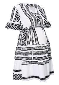 Czarna sukienka bonprix moda ciążowa