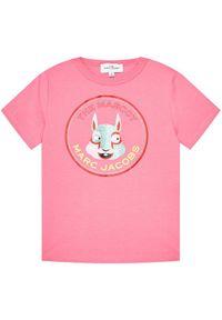Różowy t-shirt Little Marc Jacobs