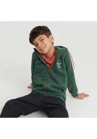 Reserved - Rozpinana bluza z kapturem - Khaki. Typ kołnierza: kaptur. Kolor: brązowy