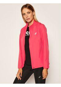 Różowa kurtka do biegania Asics