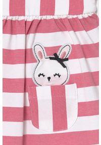 Różowa sukienka Mayoral Newborn mini, rozkloszowana, z krótkim rękawem
