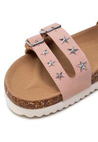 Różowe sandały Nelli Blu casualowe, z aplikacjami, na co dzień