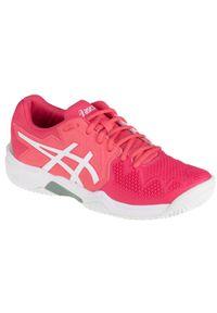Różowe buty sportowe Asics tenisowe, z cholewką