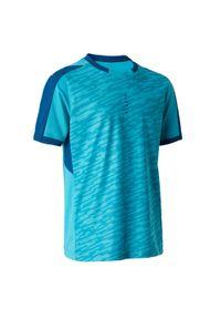 Koszulka do piłki nożnej KIPSTA na lato, z krótkim rękawem, krótka, z dekoltem w kształcie v