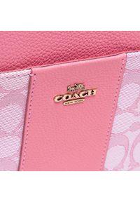 Różowa listonoszka Coach skórzana