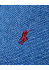 Ralph Lauren - RALPH LAUREN - Niebieska koszulka polo Slim Fit Mesh. Typ kołnierza: polo. Kolor: niebieski. Materiał: mesh. Długość: długie. Wzór: haft, ze splotem #3