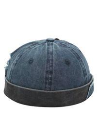 Niebieska czapka Pako Jeans retro, na wiosnę