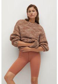 Brązowy sweter mango długi, z długim rękawem