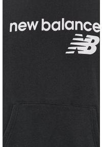 New Balance - Bluza. Okazja: na co dzień. Kolor: czarny. Wzór: nadruk. Styl: casual