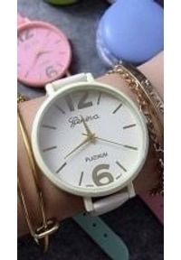 Zegarek GSM City Damski 22624 Platinum biały. Kolor: biały