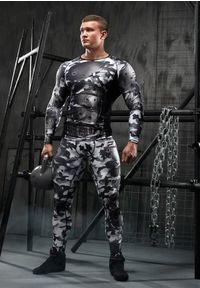 Koszulka sportowa FJ! długa, z długim rękawem, na fitness i siłownię, z nadrukiem