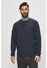 Niebieska bluza nierozpinana Tailored & Originals casualowa, na co dzień, bez kaptura