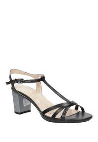 Czarne sandały Sala casualowe, na co dzień, w kolorowe wzory