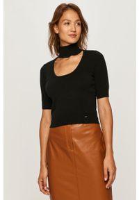 Czarny sweter Pinko z krótkim rękawem, krótki