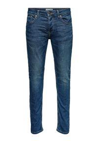 Only & Sons - ONLY & SONS Jeansy Loom 22008472 Granatowy Slim Fit. Kolor: niebieski #6
