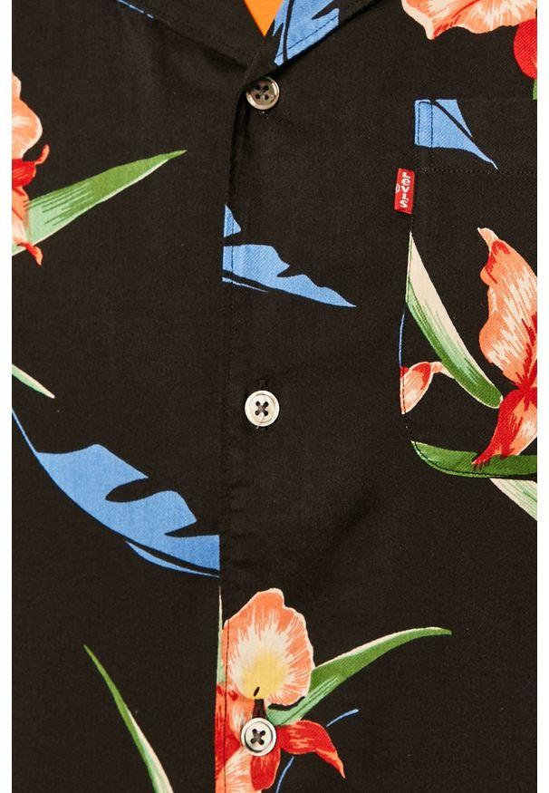 Wielokolorowa koszula Levi's® w kolorowe wzory, na co dzień, klasyczna, krótka