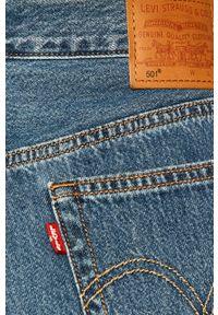 Niebieskie proste jeansy Levi's® na spotkanie biznesowe, z podwyższonym stanem, w kolorowe wzory, biznesowe
