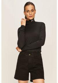 Czarna bluzka z długim rękawem Reebok Classic casualowa, na co dzień
