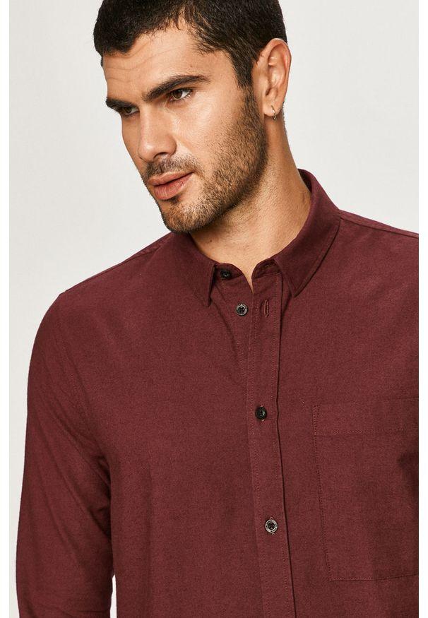 Brązowa koszula Dr. Denim na co dzień, długa, casualowa, button down