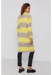 Frieda & Freddies - Sweter z domieszką wełny. Okazja: na co dzień. Kolor: żółty. Materiał: wełna. Długość rękawa: długi rękaw. Długość: długie. Styl: casual