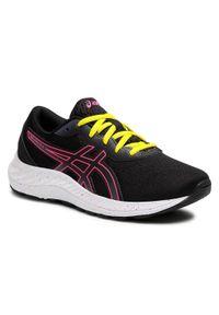 Asics - Buty ASICS - Gel-Excite 8 GS 1014A201 Black/Hot Pink. Kolor: czarny. Materiał: skóra ekologiczna, materiał, skóra. Styl: młodzieżowy
