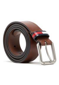 Tommy Jeans Pasek Męski Tjm Casual Flag Belt 3.5 AM0AM07196 Brązowy. Kolor: brązowy. Styl: casual
