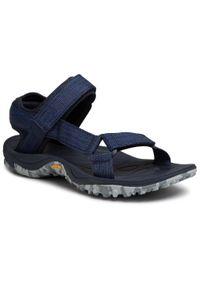 Niebieskie sandały trekkingowe Merrell na lato