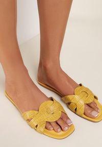 Renee - Żółte Klapki Ristippus. Kolor: żółty