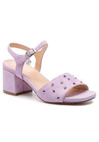 Fioletowe sandały Solo Femme na co dzień, casualowe