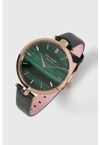 Kate Spade - Zegarek. Kolor: zielony. Materiał: skóra, materiał