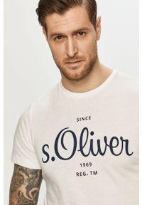s.Oliver - s. Oliver - T-shirt. Okazja: na co dzień. Kolor: biały. Materiał: dzianina. Wzór: gładki. Styl: casual