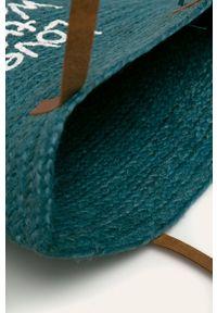 Niebieska torba plażowa Desigual z nadrukiem, duża, na ramię