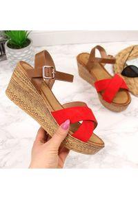 Czerwone sandały S.Barski