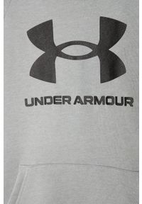 Szara bluza Under Armour z nadrukiem, z kapturem