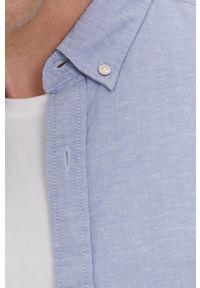 Jack & Jones - Koszula. Okazja: na co dzień. Typ kołnierza: button down. Kolor: fioletowy. Długość rękawa: krótki rękaw. Długość: krótkie. Styl: casual