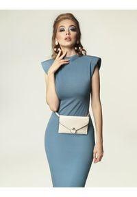 Madnezz - Sukienka Jagg - brudny niebieski. Okazja: na imprezę. Kolor: niebieski. Materiał: elastan, wiskoza