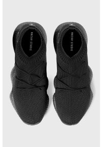 Czarne sneakersy Kazar Studio z cholewką, z okrągłym noskiem