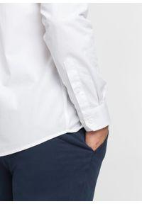 Biała koszula bonprix z długim rękawem, długa