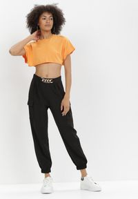 Born2be - Czarne Spodnie Nyxanise. Kolor: czarny
