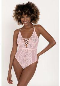 Dorina - Body Blissful. Kolor: różowy. Materiał: materiał
