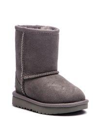 Szare buty zimowe Ugg z cholewką