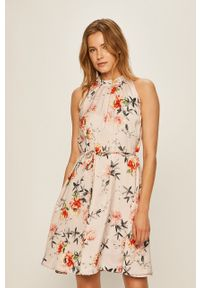Różowa sukienka Jacqueline de Yong bez rękawów, mini