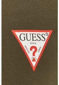 Oliwkowa bluza rozpinana Guess na co dzień, z aplikacjami, casualowa