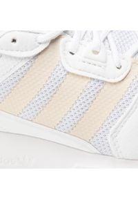 Adidas - Buty adidas - Zx 700 Hd J H68624 Ftwwht/Halivo/Ftwwht. Okazja: na spacer. Zapięcie: sznurówki. Kolor: biały. Materiał: skóra, materiał. Szerokość cholewki: normalna