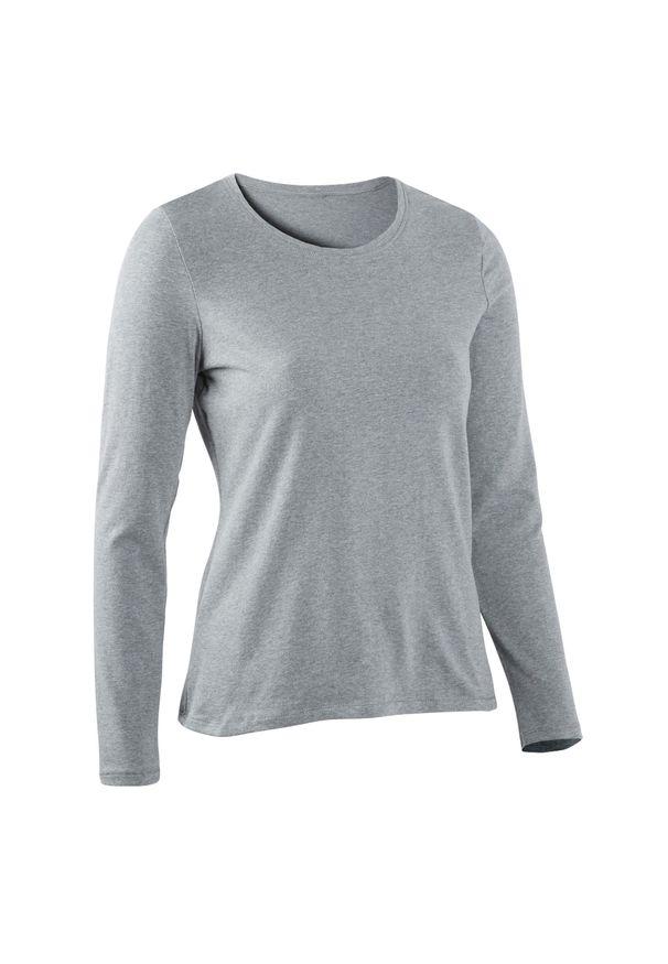 NYAMBA - Koszulka z długim rękawem Gym & Pilates. Kolor: szary. Materiał: elastan, bawełna, materiał. Długość rękawa: długi rękaw. Długość: długie. Sport: joga i pilates