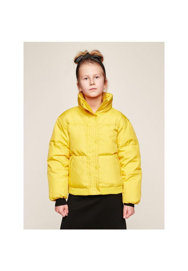 Żółta kurtka zimowa Guess