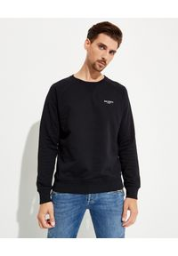 Balmain - BALMAIN - Czarna bluza z logo. Typ kołnierza: bez kaptura. Kolor: czarny. Materiał: dresówka, bawełna. Długość rękawa: długi rękaw. Długość: długie. Styl: klasyczny, elegancki, sportowy