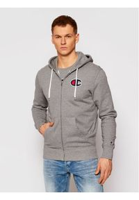 Champion Bluza Satin C Logo 214185 Szary Comfort Fit. Kolor: szary