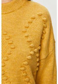 Żółty sweter Answear Lab na co dzień, długi, wakacyjny, z długim rękawem