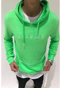 Zielona bluza IVET z napisami, z kapturem